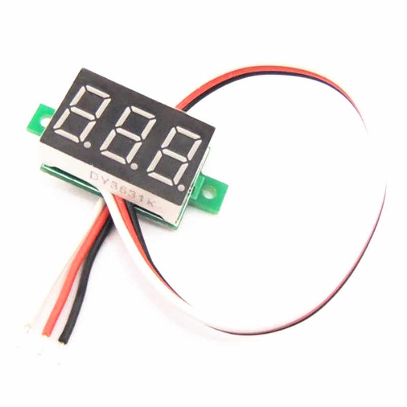 1 قطعة الجهد متر تيار مستمر LED الفولتميتر 0-30 فولت السيارات سيارة المحمول الطاقة 0.28 بوصة الرقمية للدراجات النارية تستر كاشف 12 فولت الأحمر الأخضر الأزرق