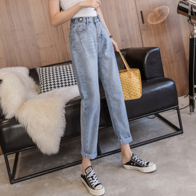 Woman Jeans High Waist Clothes Wide Leg Denim Clothing Blue Streetwear Vintage Quality 2020 Fashion Harajuku Straight Pants 6
