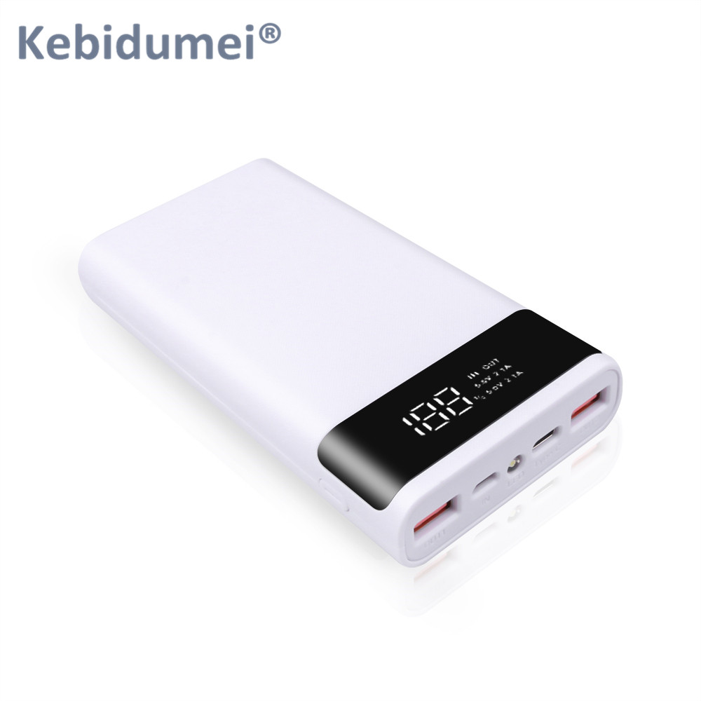 Kebidumei Dual USB Micro USB Type C Power Bank Shell 5V DIY 6*18650 Case Battery Charge Storage Box Without Battery 2