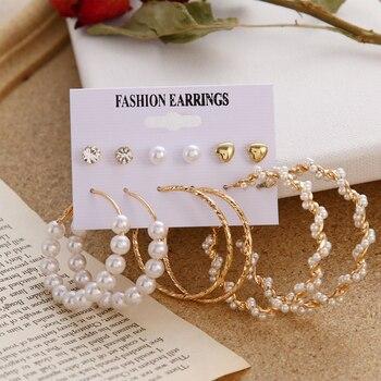 VKME Boho Tassel Earrings Bohemian Long Earrings Set For Women Brincos Geometric Fabric Earring Female Fashion Jewelry 5