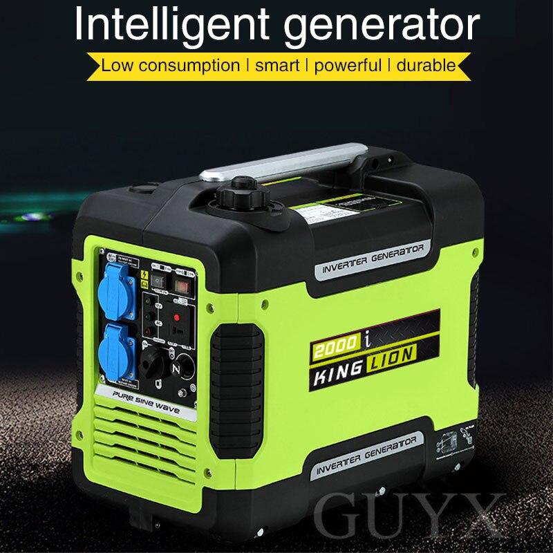 Gerador pequeno exterior ultra-silencioso da gasolina do inversor de 3kw digitas