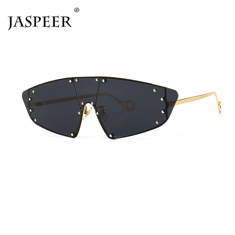 Irregular Polygon Rivet Rimless Sunglasses Women 2019 Fashion Outdoor Shades Men