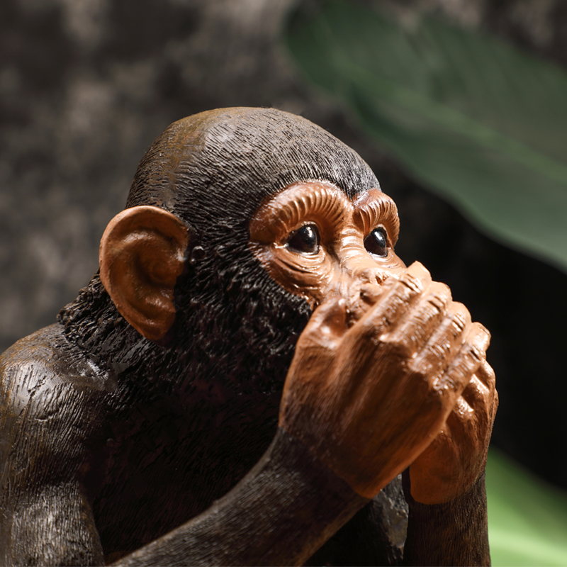 Resin Monkey Figurine  4