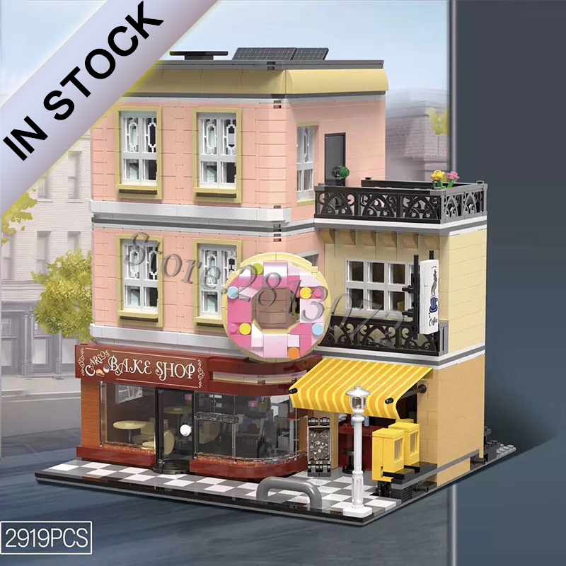 In Stocks Creator Street View Bake Shop IUG-10180 2919 PCS Compatible With 10251 10182 10243 10246 10255 10260 10264 10224