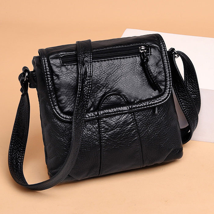 Vintage Small Flap Shoulder Messenger Crossbody Bags Women Handbags Soft Leather Ladies Clutch Casual Totes Female Purse