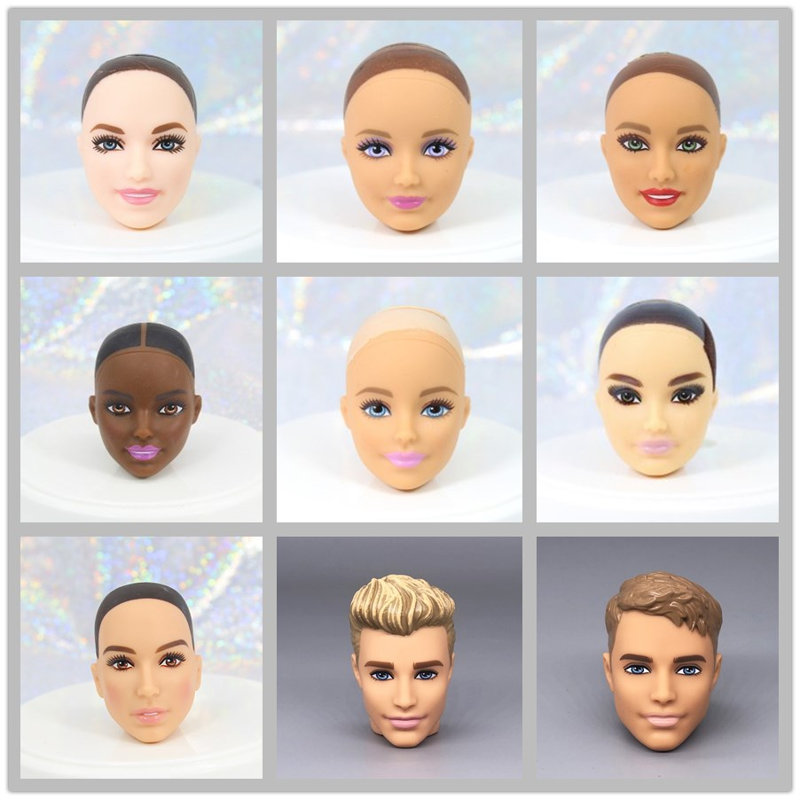Original Doll Head Wonder Woman / Normal & Brown & Black Skin Bald Head Doll Accessories DIY For 1/6 Doll ,Toys For Girls