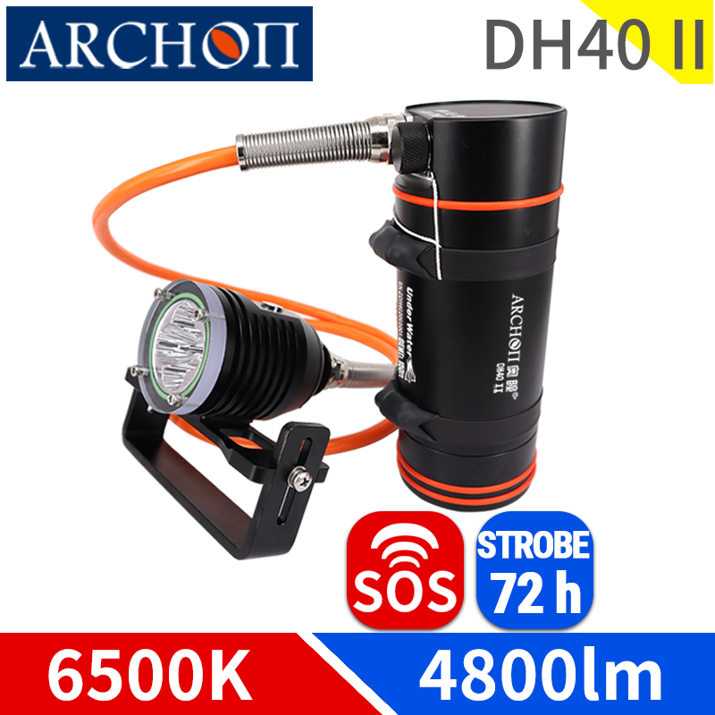 Diving Fill-Light Video Strobe Dive 72 h-Lighting-Torch 6500K Dh40-Ii Sos-Longest