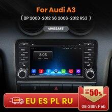 AWESAFE – lecteur PX9 autoradio vidéo multimédia GPS No 2 din Android 2003, 2 go + 32 go, pour Audi A3 8P 2012 – 2006 S3 2012-10.0 RS3