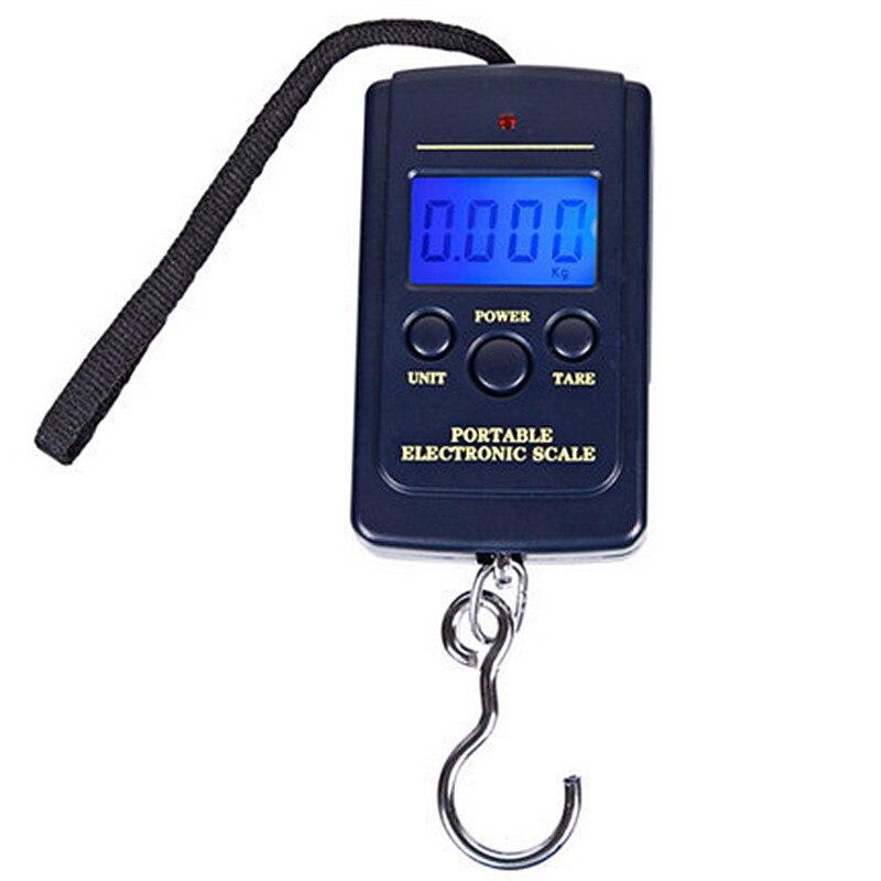 Mini balance numérique de pêche 40kg X 10g, équipement de pêche, pesée de voyage suspendue