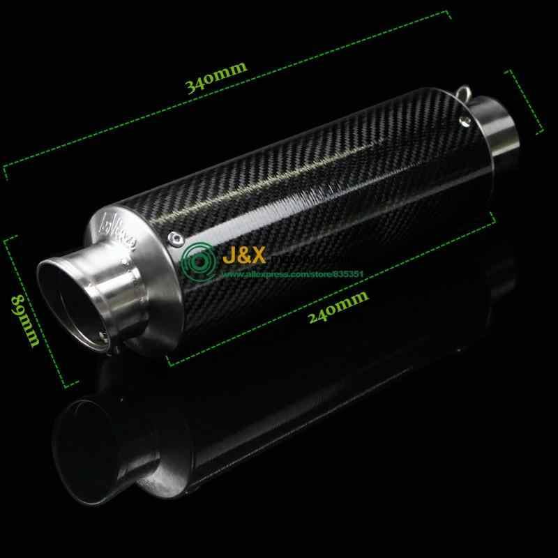 E-MARK YZF-R3 Moto di Scarico completo del sistema di contattare medio tubo + Silenziatore per YAMAHA R3 2015-2016 Slip On