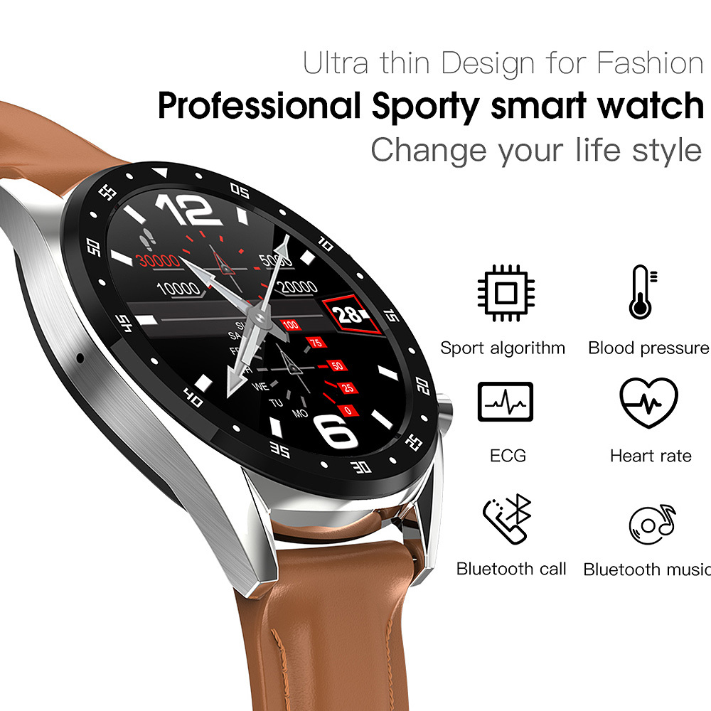 <font><b>L7</b></font> Smart Watch 1.3 Inch IP68 Waterproof Sport <font><b>Smartwatch</b></font> Activity Tracker ECG Smart Bracelet Watch Men For IOS Android image