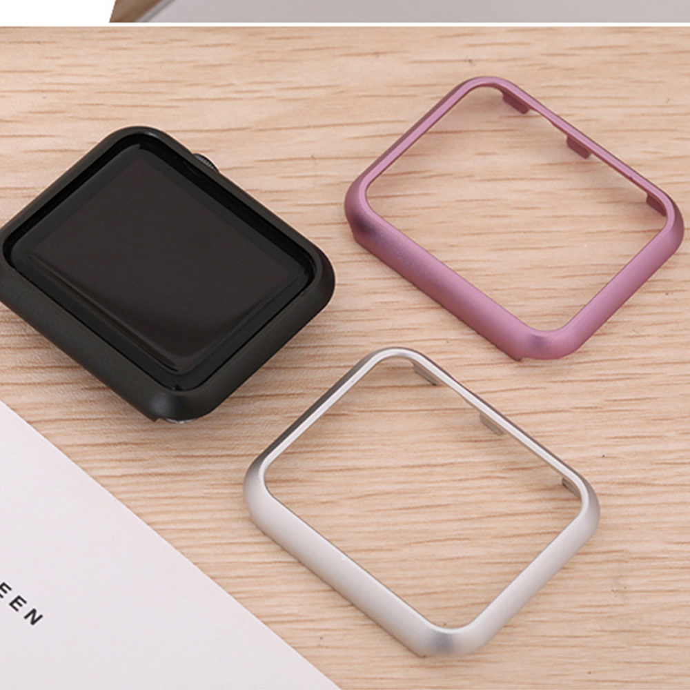 Luxury metal cover case for apple watch 5 4 44mm/40mm/42mm/38mm iWatch series 4/3/2/1 Aluminum Frame watch protective case shell