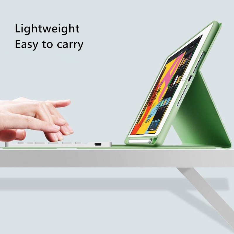 Apple Keyboard-Case iPad for Pencil-Holder with 7th-Generation Cover Bluetooth