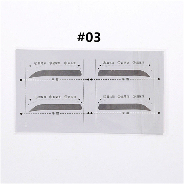 Hot 32 Pairs/Set Professinal Fashion Eyebrow Template Stickers Eye Brow Eyebrow Stencils Drawing Card Stencil Makeup Tools 4