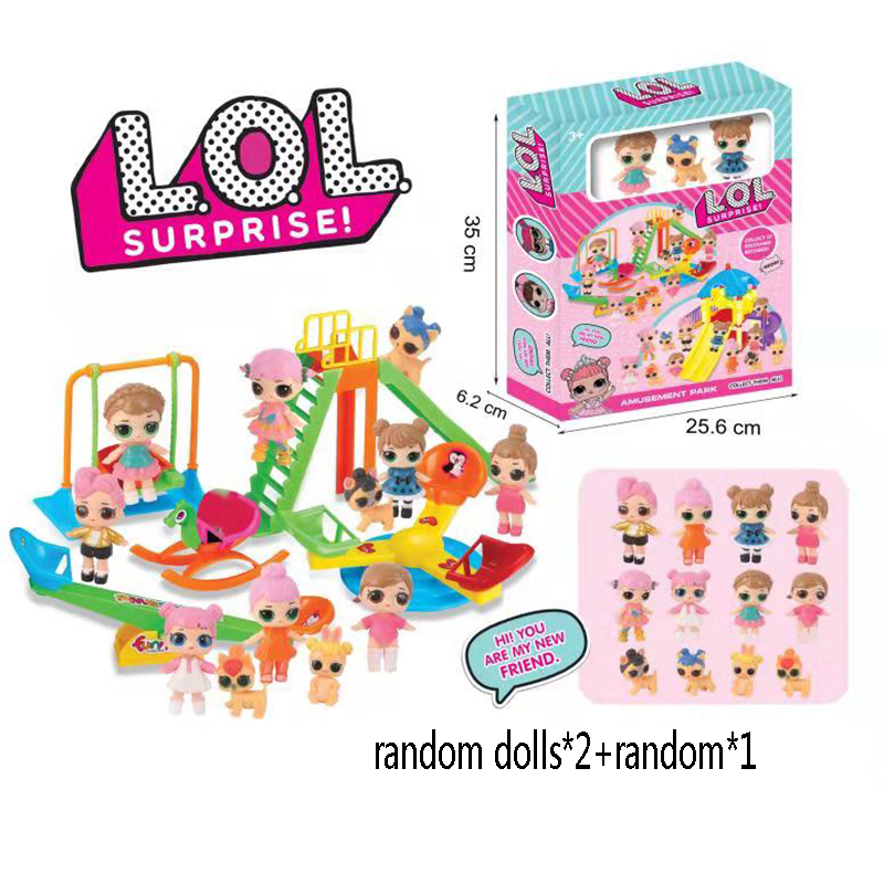 LoL Surprise Dolls AMUSEMENT PARK with Original box Action Figure lols dolls figura doll Toys Set girls birthday gifts
