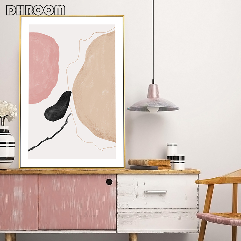 Nordic Simple Fashion Modern Vogue Sketch Figures Style Home Decoration Paintings Poster and Prints Canvas Art Wall Picture Art in Painting Calligraphy from Home Garden