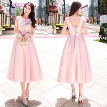 Вечерние платья, длинные,, розовые, простого размера плюс, круглый вырез, без рукавов, свадебное платье для гостей, с открытой спиной, элегантное, Abito Da Cerimonia ES1529