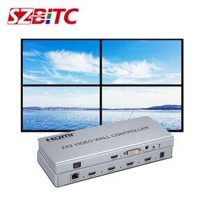 SZBITC 2x2 HDMI kontroler ściany wideo HDMI 4 w 1 z 1080P rozdzielacz hdmi wielu trybów 1x2 1x3 1x4 2x1