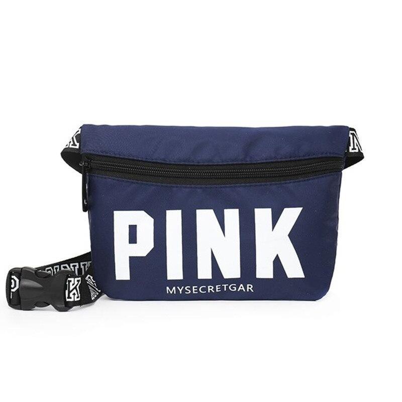 2019 New Pink Hip Bag Black Men's Belt Bag Holographic Waist Bag Leisure Women Waist Pack Mini Fanny Pack Bolsa De Cintura