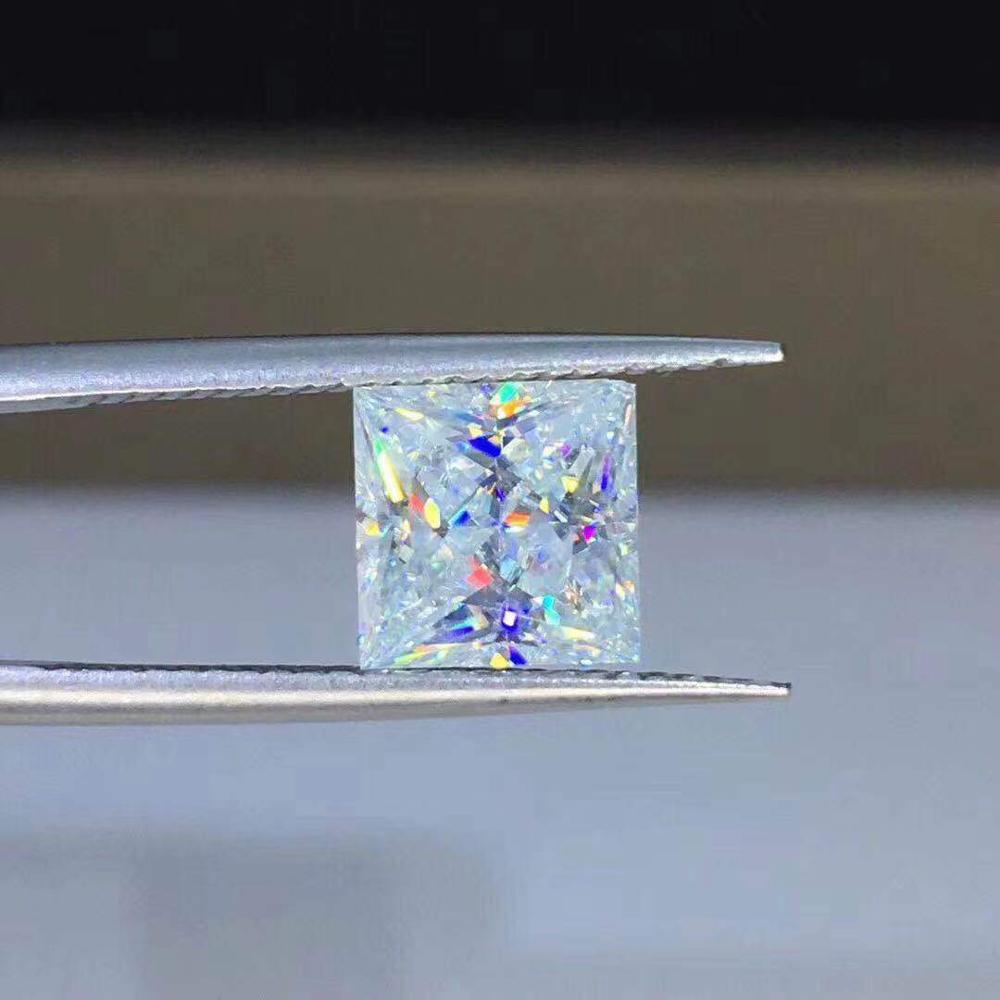 Ring-Pendants Moissanite Diamond Poetry VVS Barestone Princess of for Naked Square Jew-Store