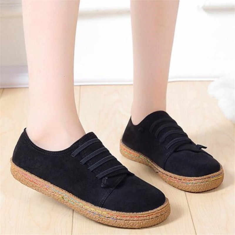 shoes simple retro suede flat bottom