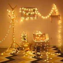Tira de luces LED de estrellas, luces decorativas para dormitorio, iluminación de vacaciones, luces de Navidad, linterna pequeña, luces de colores