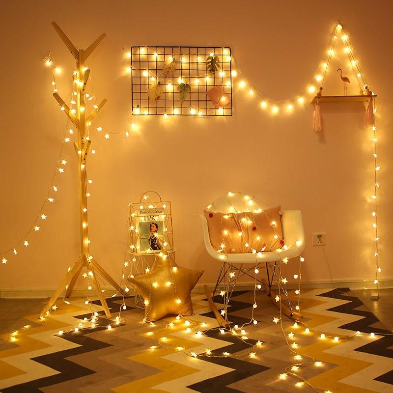 LED ağ kırmızı ışık yıldız ışıkları odası yatak odası dekoratif ışıklar tatil noel ışıkları küçük el feneri renkli ışıklar asılı ı ı ı ı ı ı ı ı ı ı ı ı ı ı ı ı ı ı ı ı