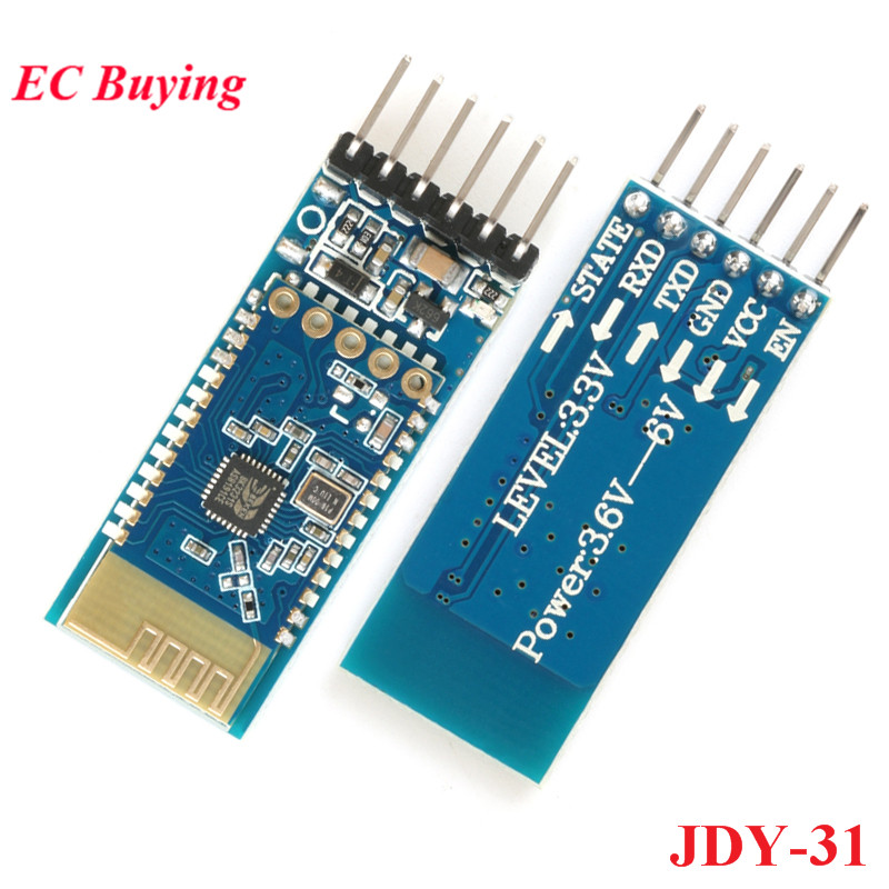 5pcs JDY-31 Bluetooth 3.0 <font><b>HC</b></font>-05 <font><b>HC</b></font>-<font><b>06</b></font> Bluetooth Module Serial Port 2.4G SPP Transparent Transmission Compatible <font><b>HC</b></font> 05 <font><b>06</b></font> JDY-30 image