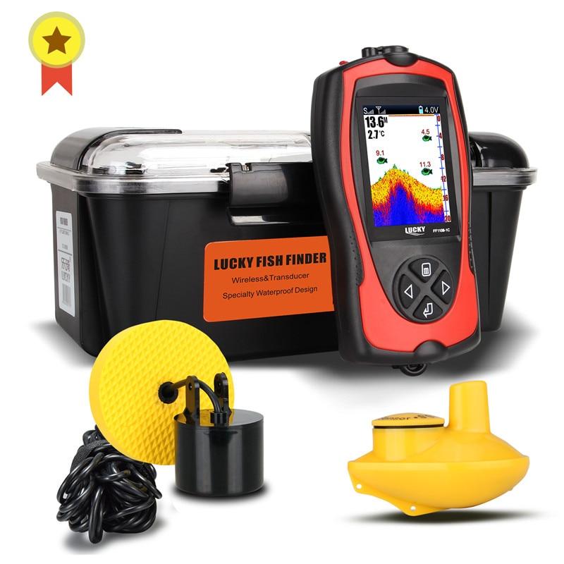 LUCKY FF1108-1C& FF1108-1CT Portable Fish Finder for ice fishing Depth Sonar Sounder Alarm Waterproof echo sounder sonar fish
