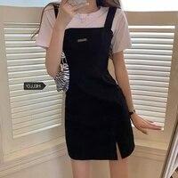 Temperament Bodycon Casual Koreanische Kleid Neue Sommer frauen Kleidung Heißer Mädchen Design Gefühl Harajuku Top Büro Dame Mode 2021