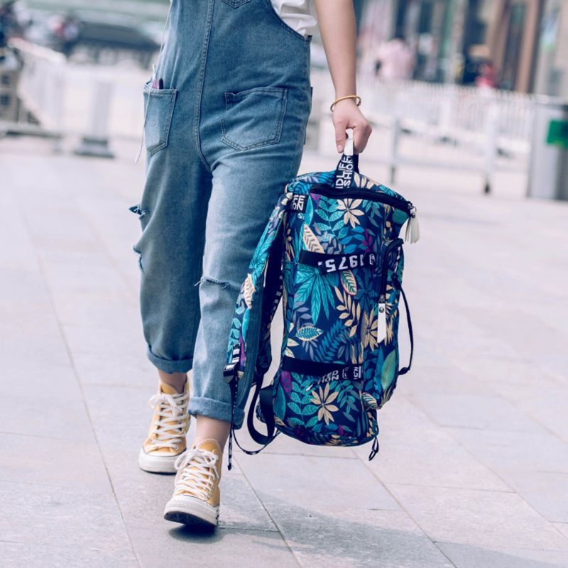 Women Canvas Travel Bags Female Large Capacity Backpack Ladies Multifunctional Crossbody Shoulder Bag