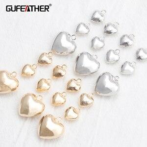 GUFEATHER M805, akcesoria jubilerskie, 18k pozłacane, 0.3 mikronów, diy wisiorek, rodowane, tworzenia biżuterii, diy kolczyki, 10 sztuk/partia