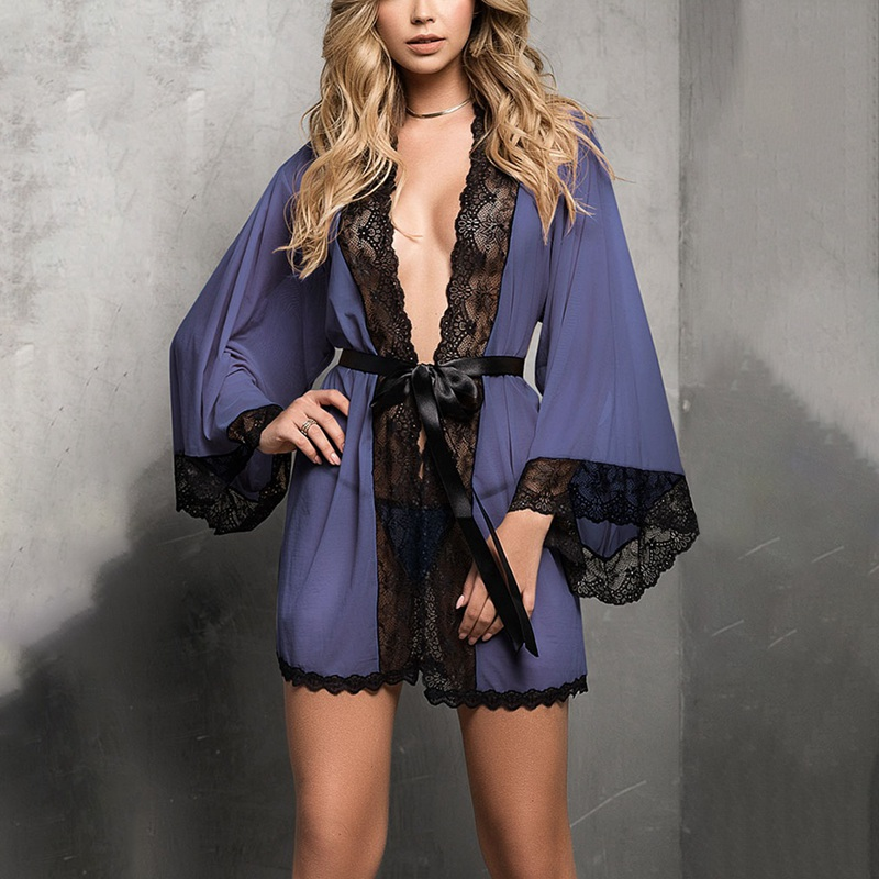 Women Sexy Lingerie Sleepwear Babydoll  Underwear Kimono Robe Dressing Gown Wedding Night Dress Bathrobe New