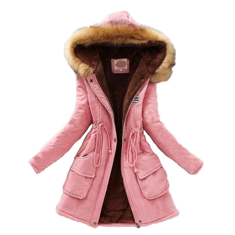 Fashion Parka Coat Women Plus Size Long Sleeve Plus Thick Warmth Clothing 2019 Autumn Winter New Multicolor Hooded Jacket JD598