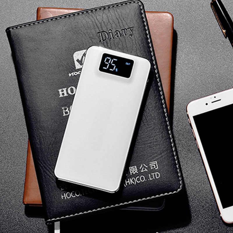 Dành cho Xiaomi 30000mAh Power Bank LCD Sạc Nhanh 3.0 Dual USB Dự Phòng Powerbank Cho Huawei Iphone 7 X Poverbank Bên Ngoài pin sạc dự phòng