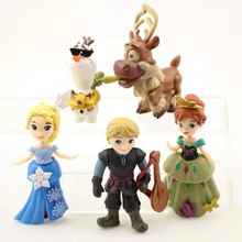 цена на 5Pcs/set Q Version Cartoon Elsa & Anna Princess Olaf Toys For Kids Action Figures Pvc Dolls Model Children's Christmas Gift