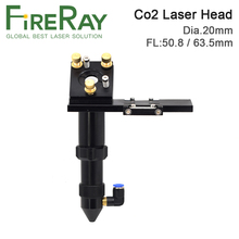 цена на FireRay CO2 Laser Head for Focus Lens Dia.20 FL.50.8 63.5mm Mirror 25mm Mount for Laser Engraving Cutting Machine