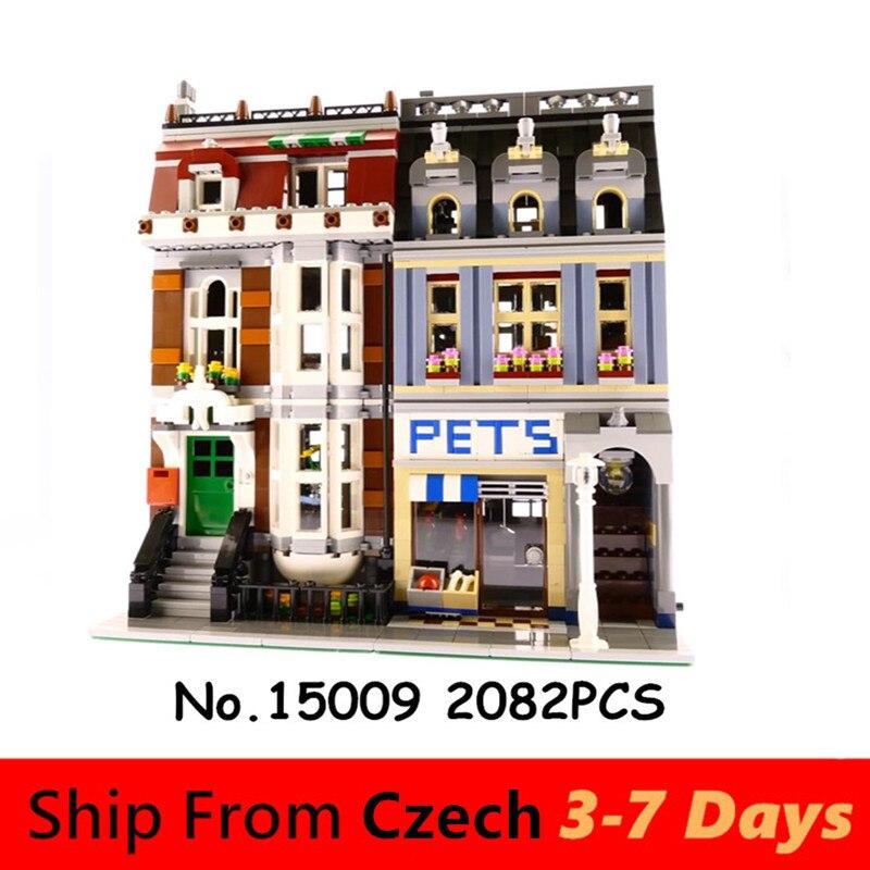 15009 город улица СОЗДАТЕЛЬ серии Pet магазин игрушки Lp модель строительные блоки Набор кирпичей совместимый 10218 подарок в наличии архитектура