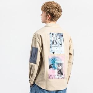 Image 5 - 2019 hip hop camisa masculina de manga comprida streetwear harajuku camisa gráfica remendos design retro vintage camisa solta casual topos outono