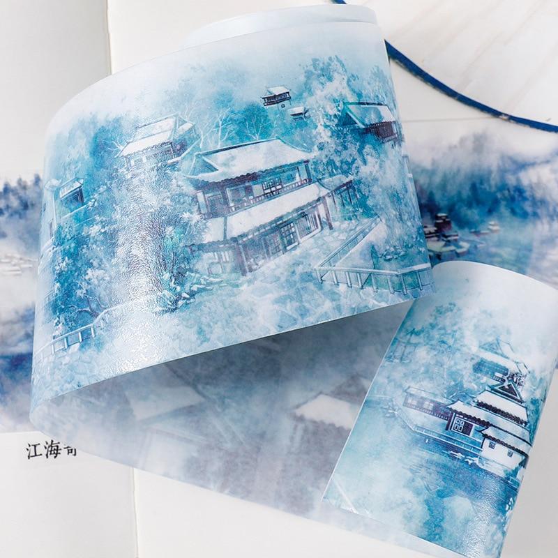 recordando jiangnan decorativo adesivo scrapbooking diy papel japones adesivos 5 m 02
