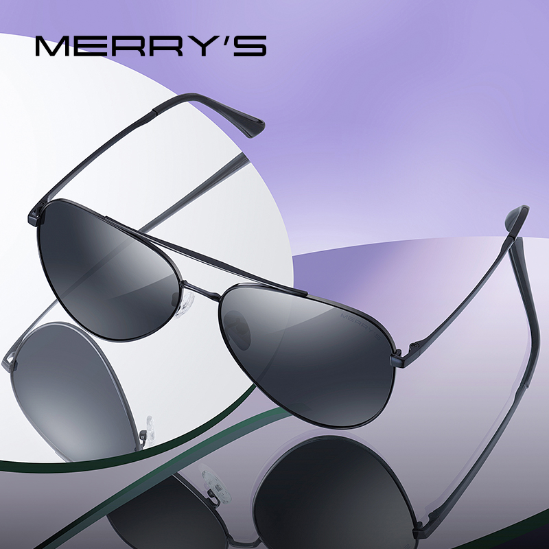 MERRYS DESIGN Men Classic Pilot Sunglasses HD Polarized Sun glasses Driving Fishing Eyewear For Men Women UV400 Protection S8134