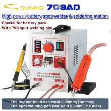 SUNKKO 709AD Spot welder 2.2KW High power battery digital display soldering  Spot Welding 18650 lithium battery Pulse spot