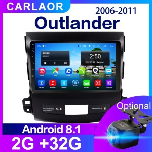 Car Android Multimedia Player For Mitsubishi Outlander xl 2 2005 2006 -2011 2 Din Radio Audio GPS 2Din Navi WIFI 4G SIM 2GB 32GB(China)