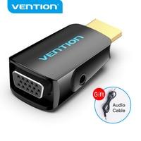Vention-Convertidor de HDMI a VGA 1080P, HDMI macho a VGA hembra con adaptador de Audio para PS4, portátil, TV Box, proyector, adaptador VGA HDMI