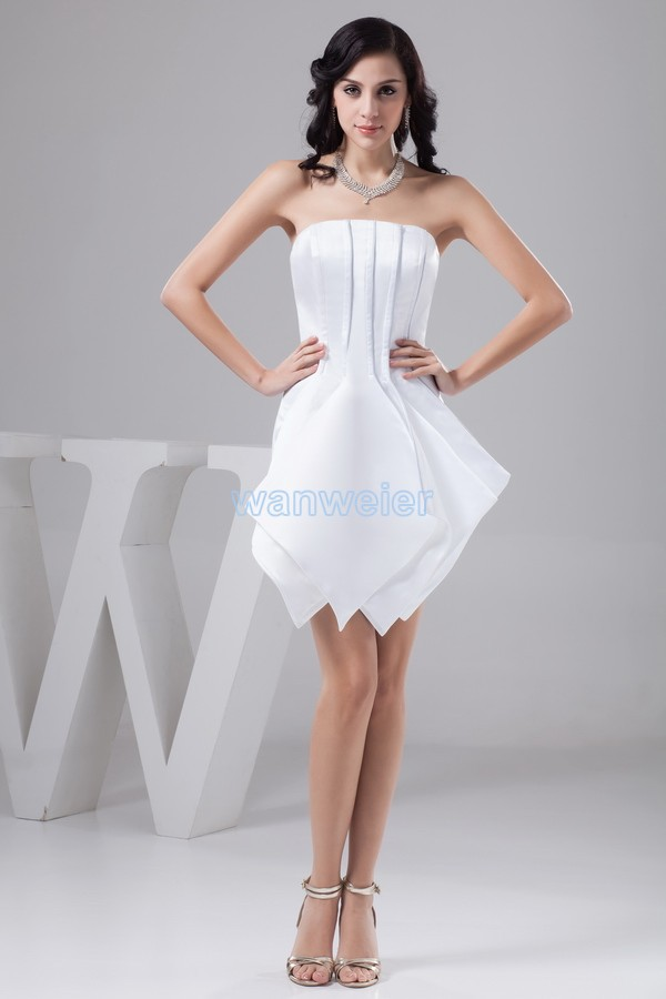 Free Shipping 2013 New Design Plus Size Gown Knee-length Hot Sale Custom Size/color White/ivory Actual Designer Bridesmaid Dress