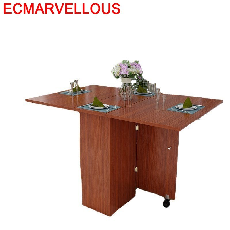 Mueble A Langer Juego Tavolo Eettafel Set Piknik Masa Sandalye Retro Wooden Folding De Jantar Bureau Mesa Comedor Dining Table