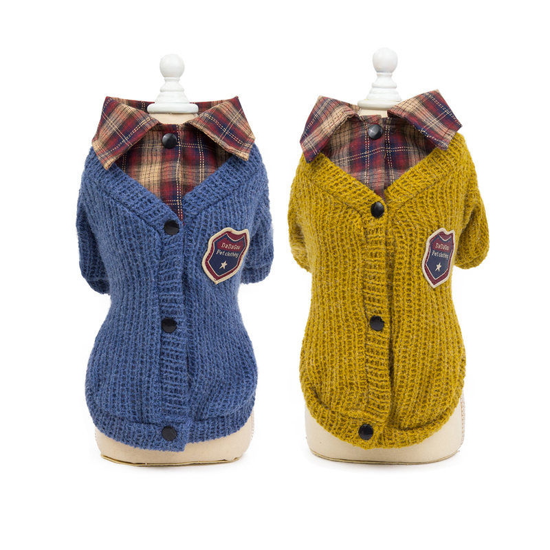British Designer Pet Dog Sweater Winter Dog Clothes Sweaters For Small Dogs Dachshund Puppy Cat Pullover Knitted Sweaters Dogs