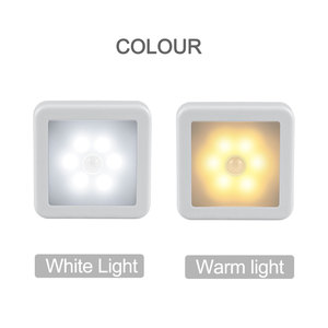 Image 3 - New Night Light Smart Motion Sensor LED Night Lamp Battery Operated WC Bedside Lamp For Room Hallway Pathway Toilet DA