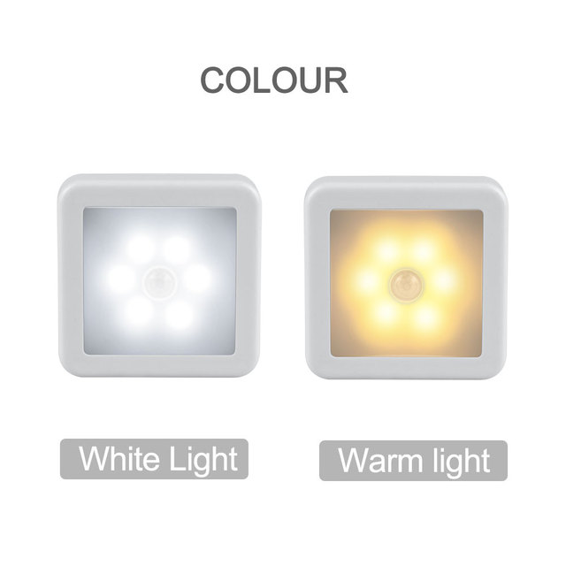 New Night Light Smart Motion Sensor LED Night Lamp Battery Operated WC Bedside Lamp For Room Hallway Pathway Toilet DA 2
