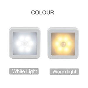 Image 3 - Nova luz noturna sensor de movimento inteligente led night lamp bateria operado wc lâmpada de cabeceira para sala corredor caminho wc da